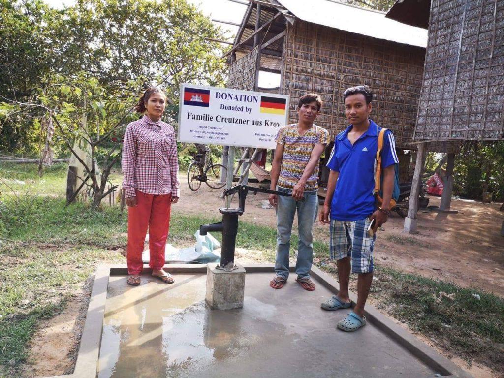 Foto von Brunnen in Kambodscha