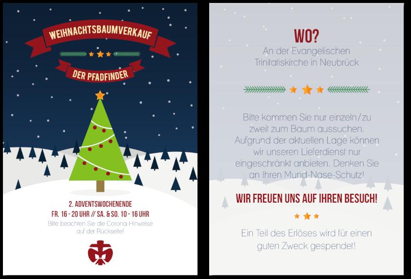 Vorschau des Weihnachtsbaumverkaufs-Flyers